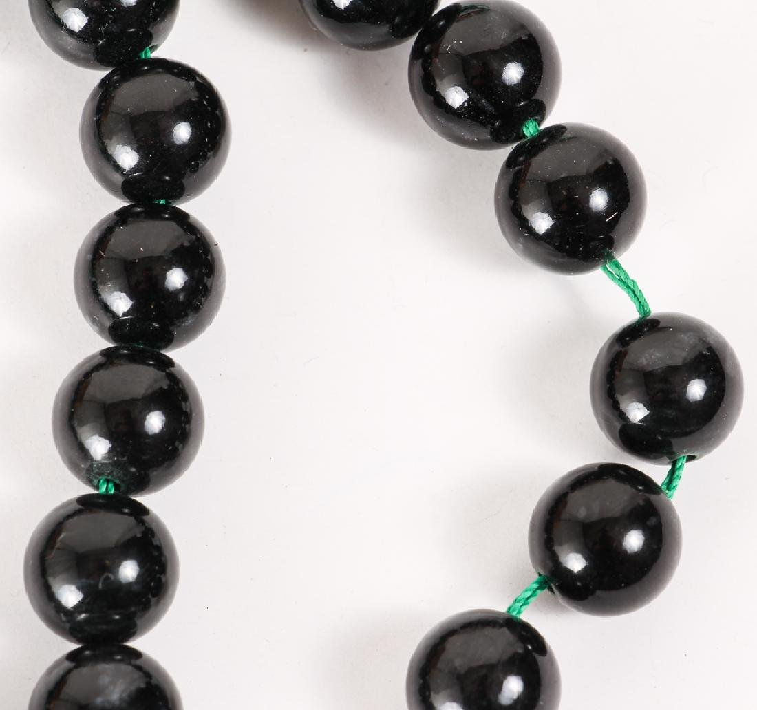 Large Group of Black Beads - 4