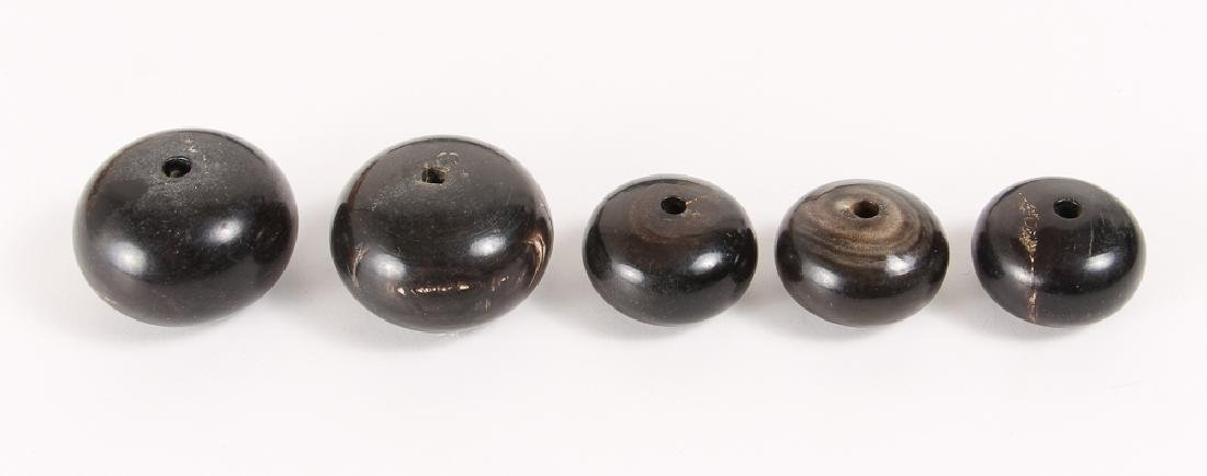 Large Group of Black Beads - 6