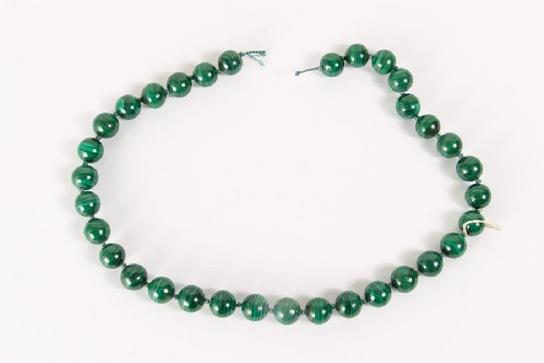 Group of Malachite and Related Beads - 2