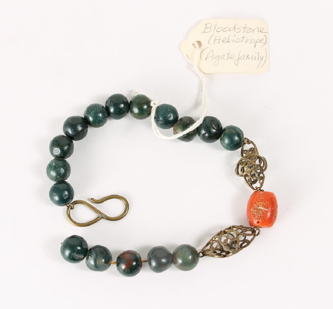 Group of Malachite and Related Beads - 4