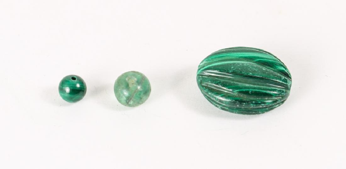 Group of Malachite and Related Beads - 6