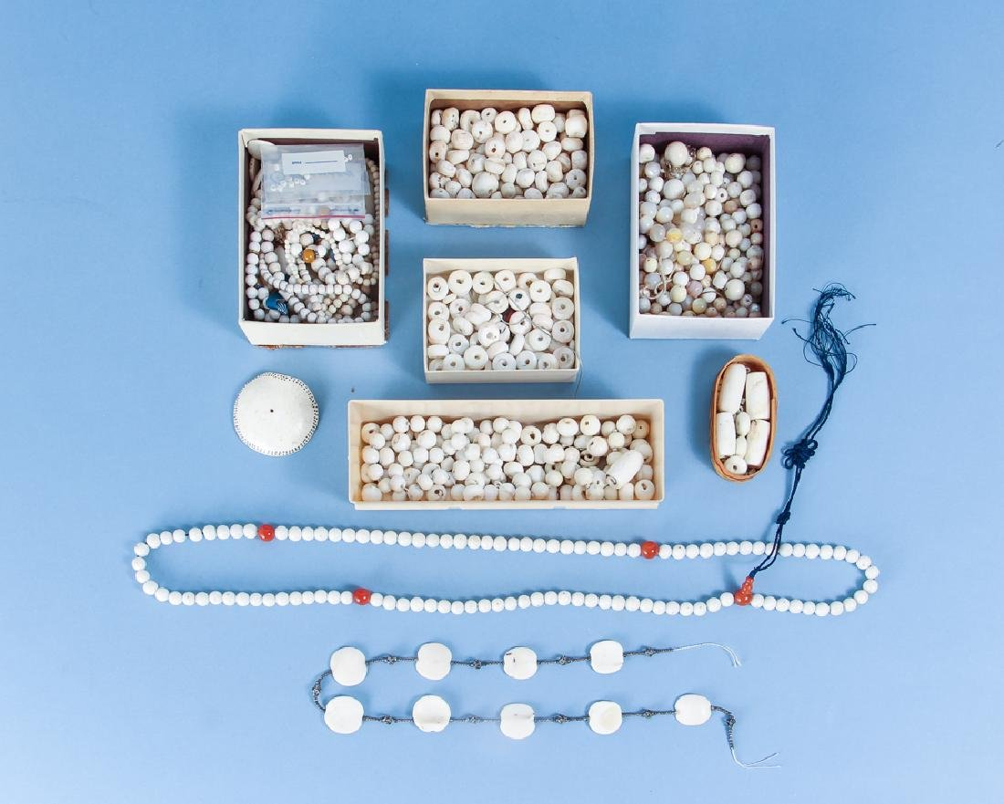Group of Shell and Related Beads
