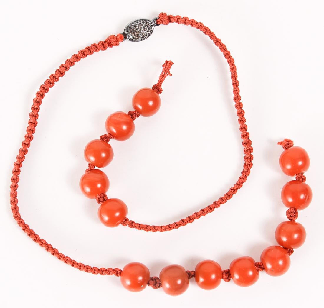 Group of Carnelian and Jade Beads - 6