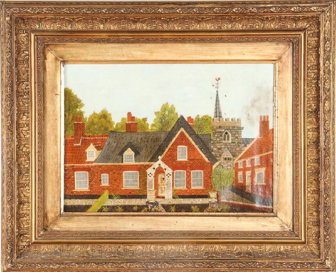 Victorian Folk Town Scene Painting - 2