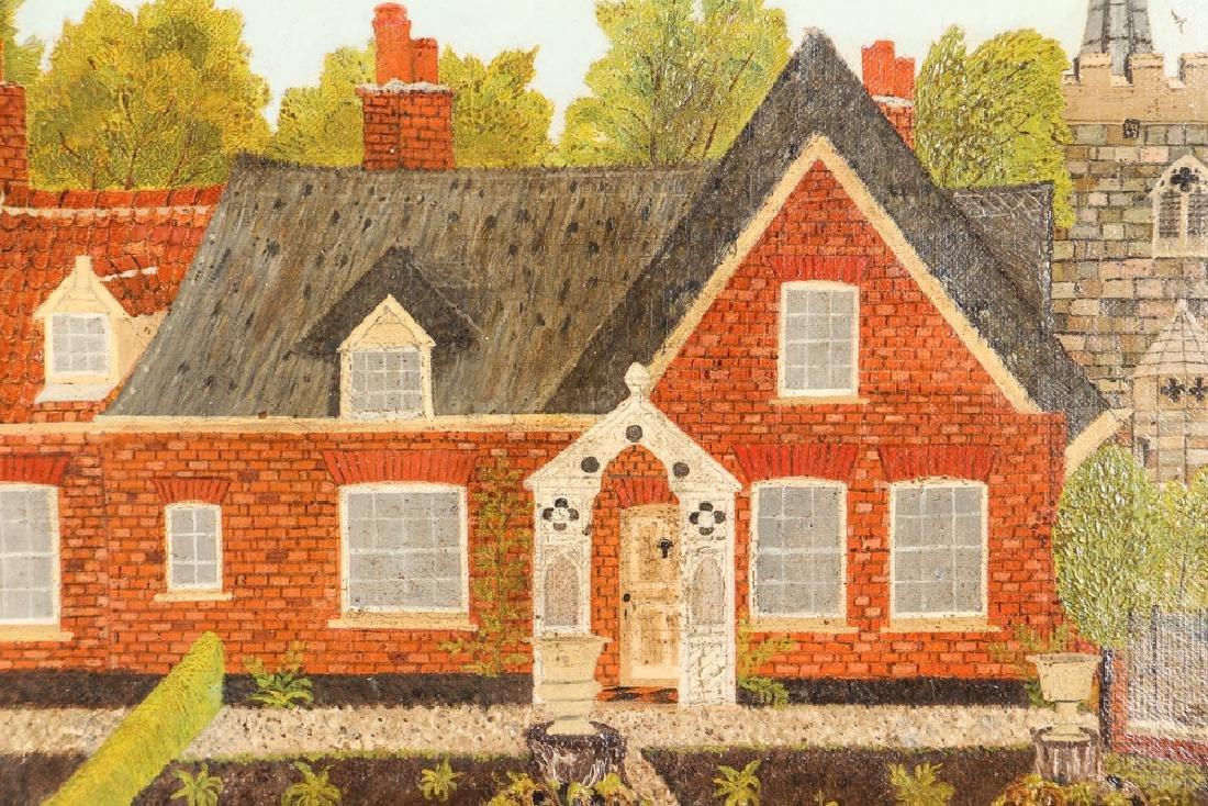 Victorian Folk Town Scene Painting - 3