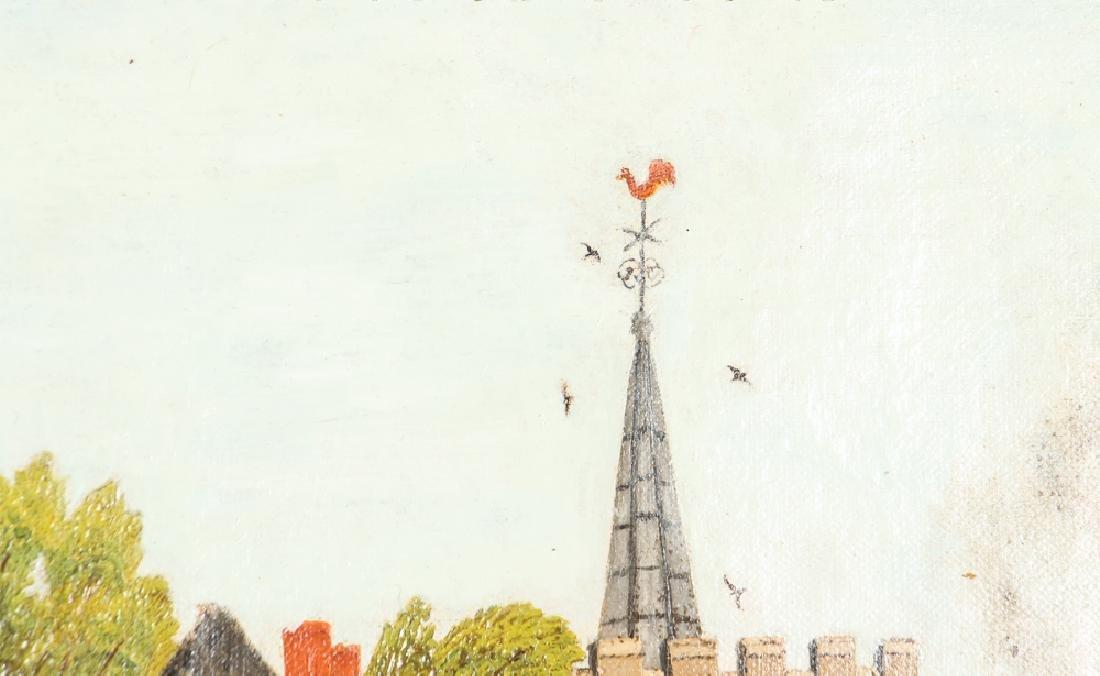 Victorian Folk Town Scene Painting - 4