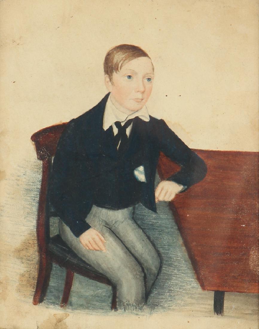 Folk Art Depiction of an Adolescent Boy