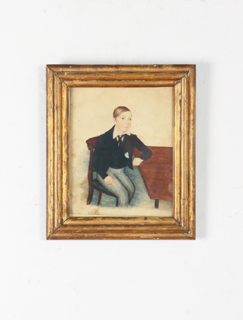 Folk Art Depiction of an Adolescent Boy - 2