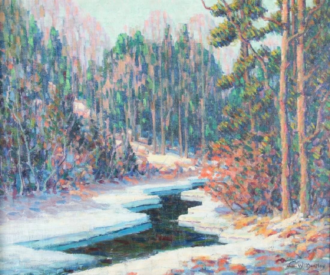 John Bentley Impressionist Landscape The Thaw