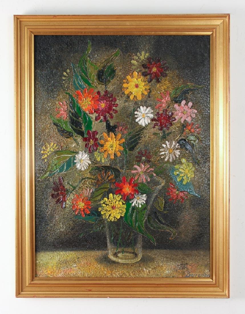 Virginia Berresford modernist oil Still Life of Flowers - 2