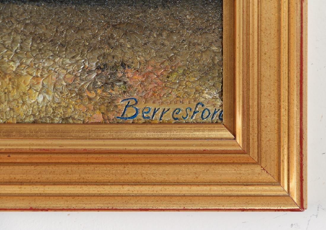 Virginia Berresford modernist oil Still Life of Flowers - 3