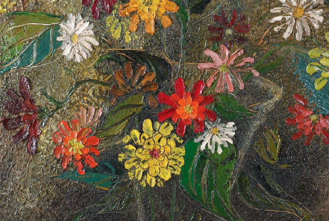 Virginia Berresford modernist oil Still Life of Flowers - 4