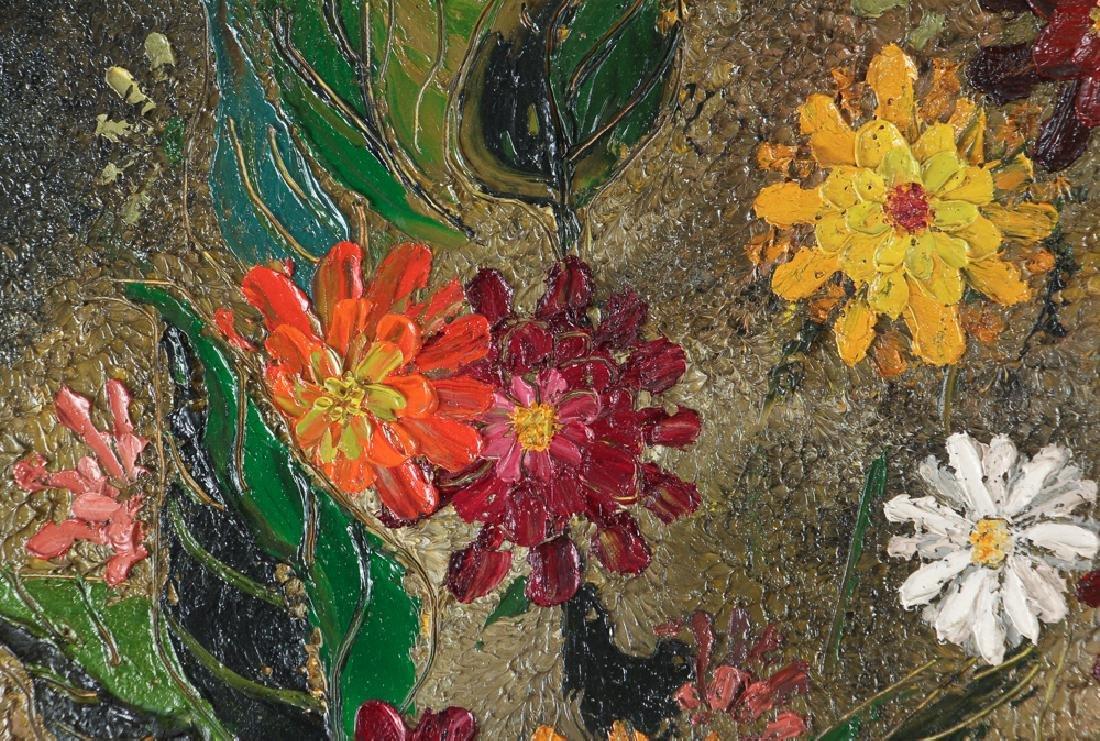 Virginia Berresford modernist oil Still Life of Flowers - 5