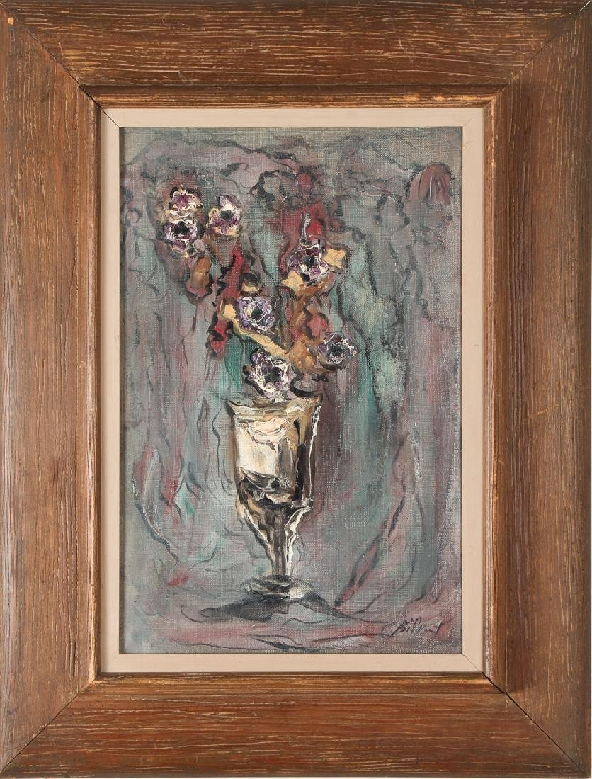 """Simon Bilew """"Floral Still Life"""" oil painting 1951 - 2"""