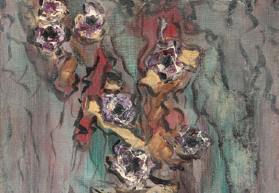 """Simon Bilew """"Floral Still Life"""" oil painting 1951 - 4"""