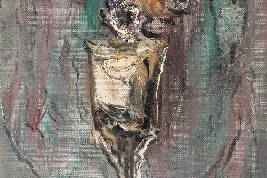 """Simon Bilew """"Floral Still Life"""" oil painting 1951 - 5"""