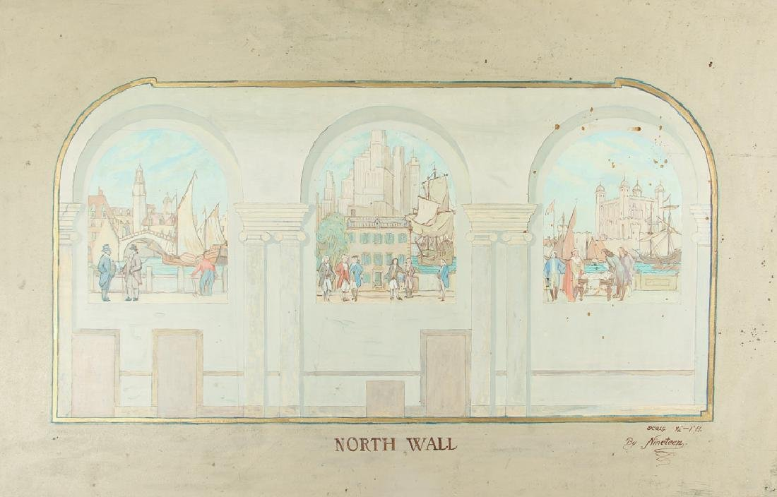 Daniel Brinley Brooklyn Savings Bank North Wall Mural
