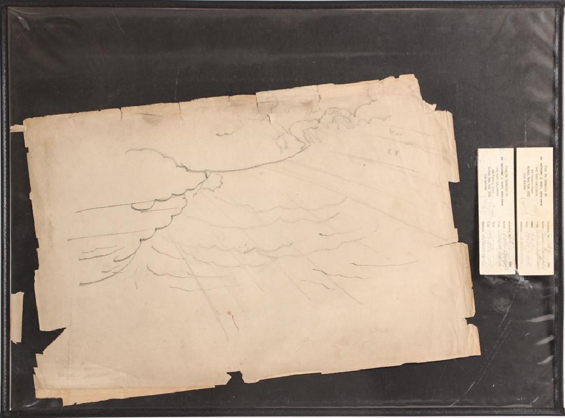 Charles Burchfield pencil drawing Cloud Study circa