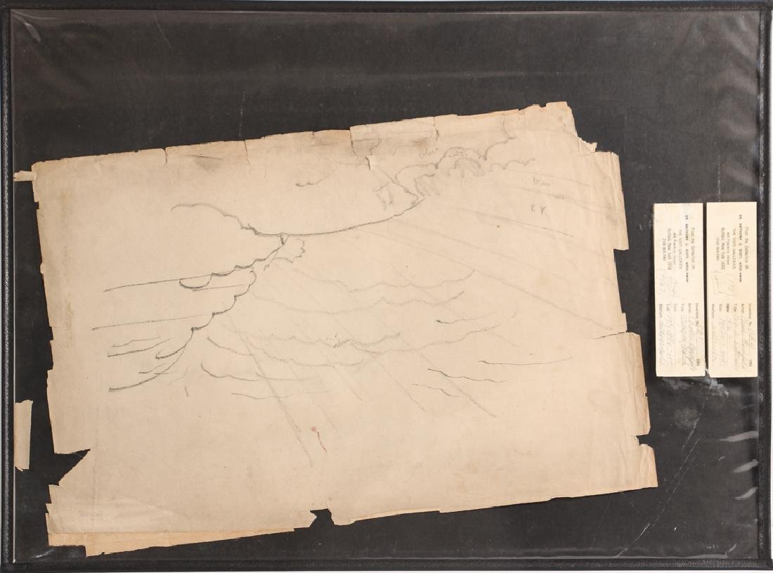 Charles Burchfield pencil drawing Cloud Study circa