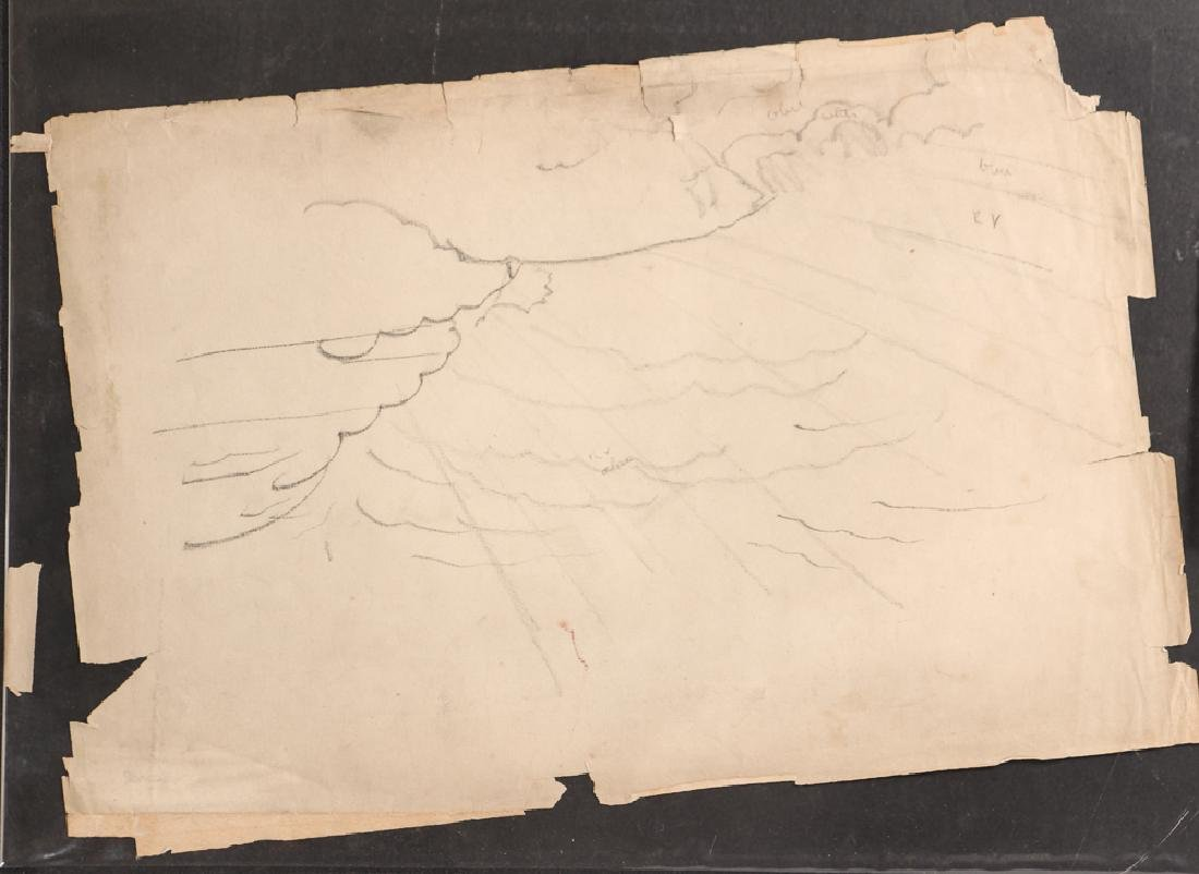Charles Burchfield pencil drawing Cloud Study circa - 2