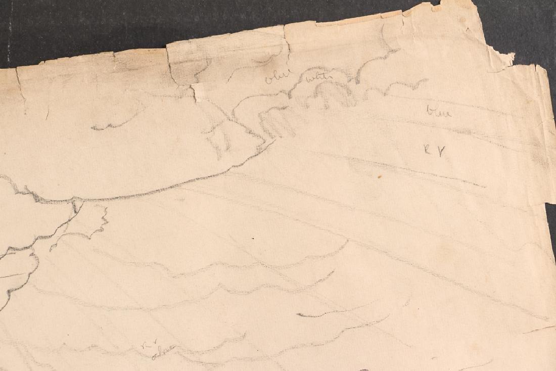 Charles Burchfield pencil drawing Cloud Study circa - 4