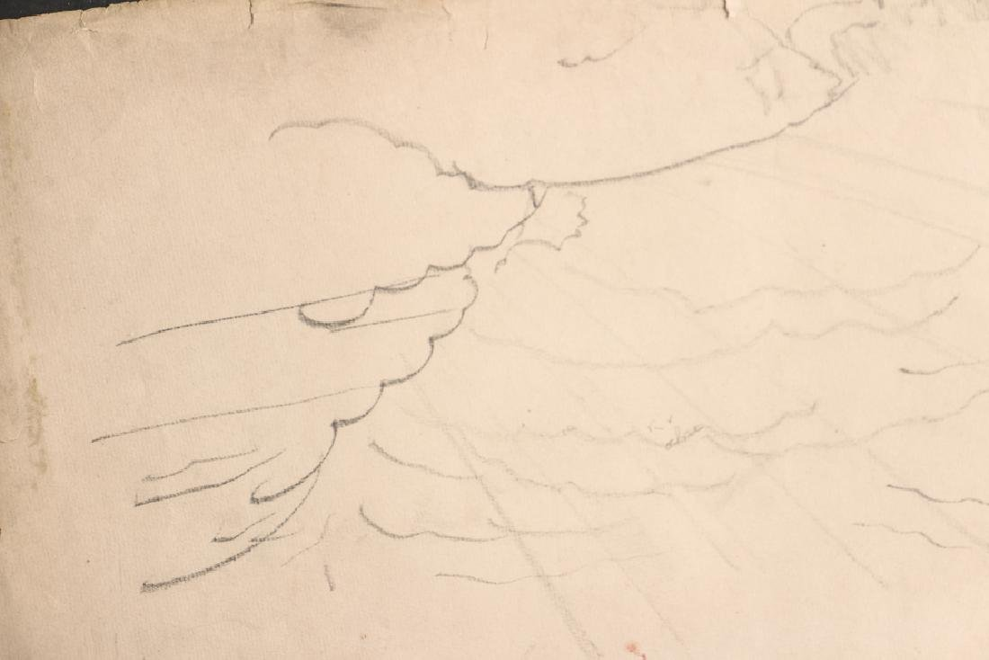 Charles Burchfield pencil drawing Cloud Study circa - 5