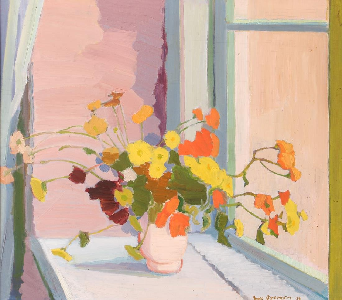 Erik Bystrom 1939 ptg. Bouquet of Flowers