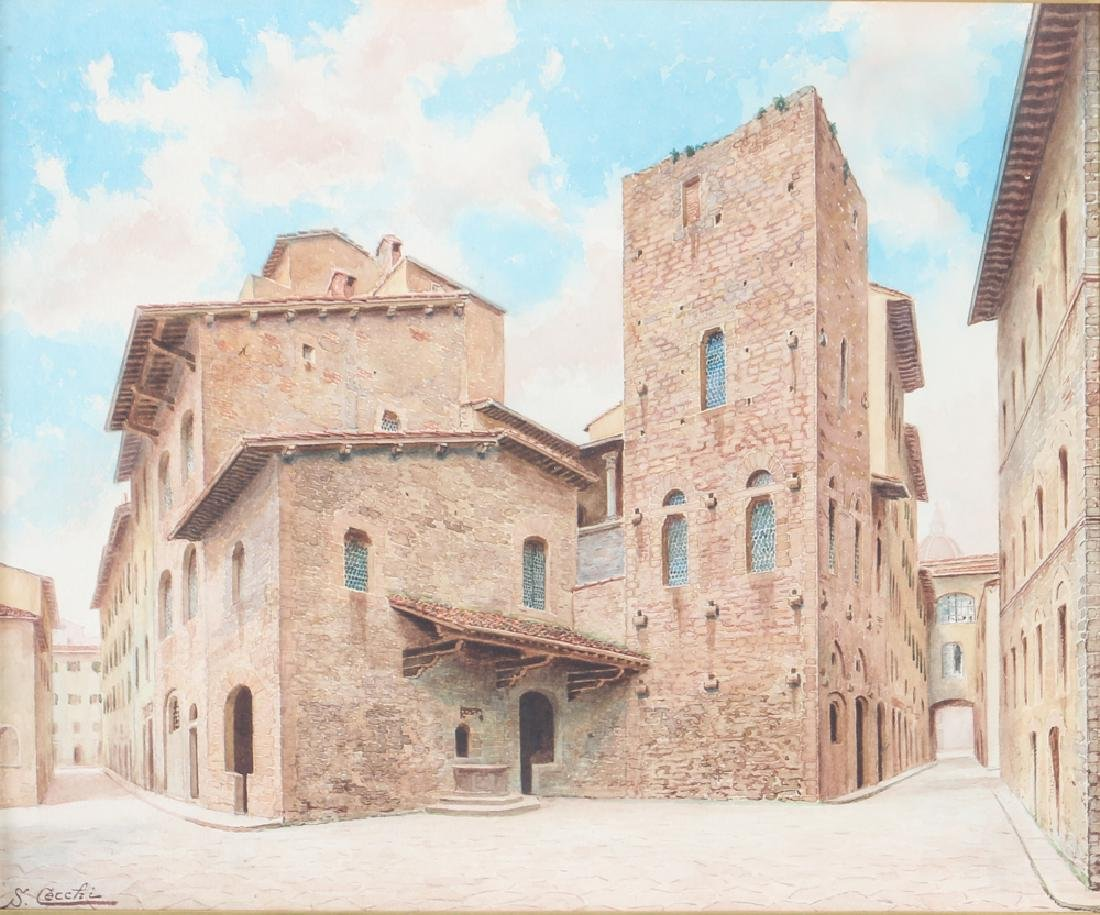 Cecchia Italian Architectural Watercolor