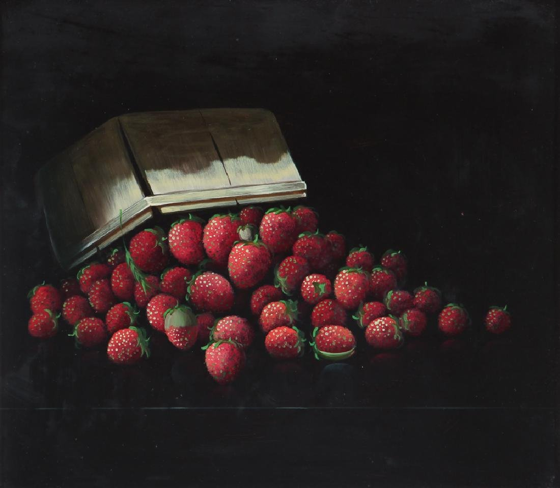 After Joseph Decker  oil on board Strawberries