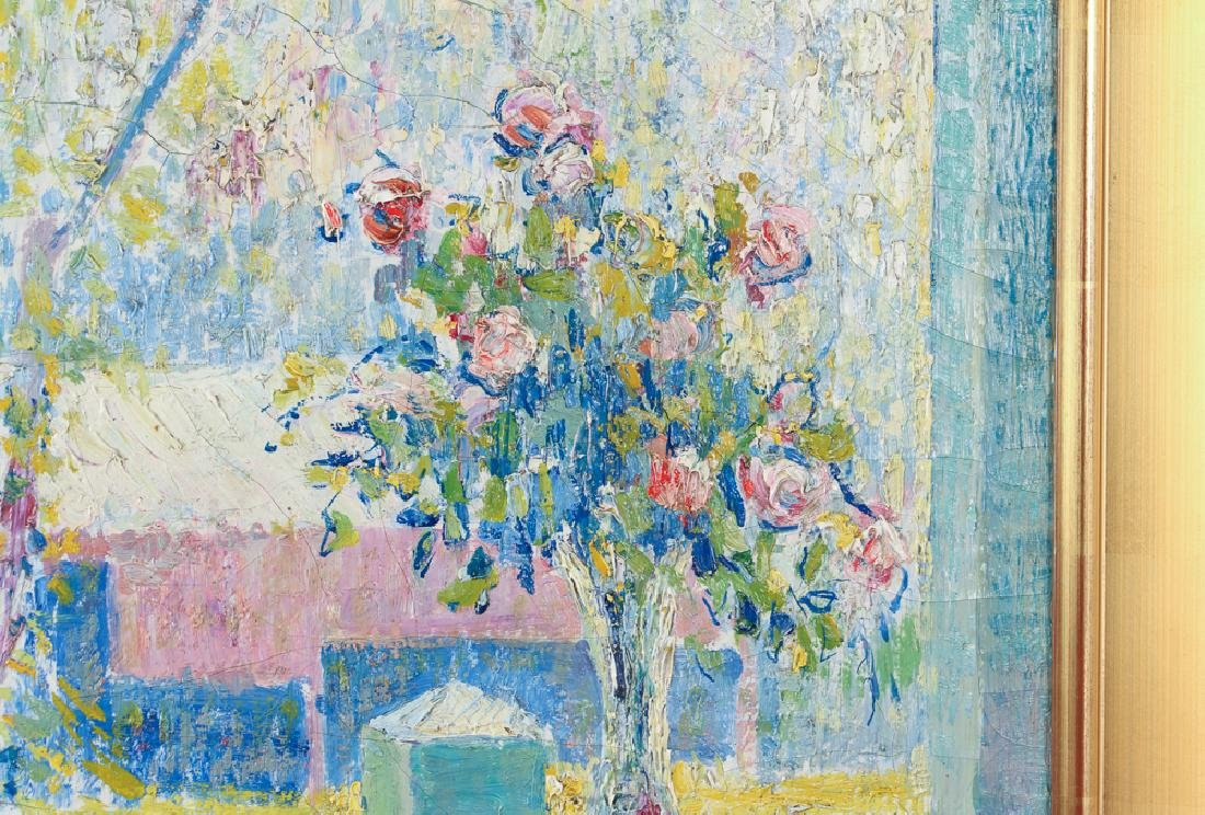 Leo Dorn 1915 ptg. Spring Bouquet on Porch - 4