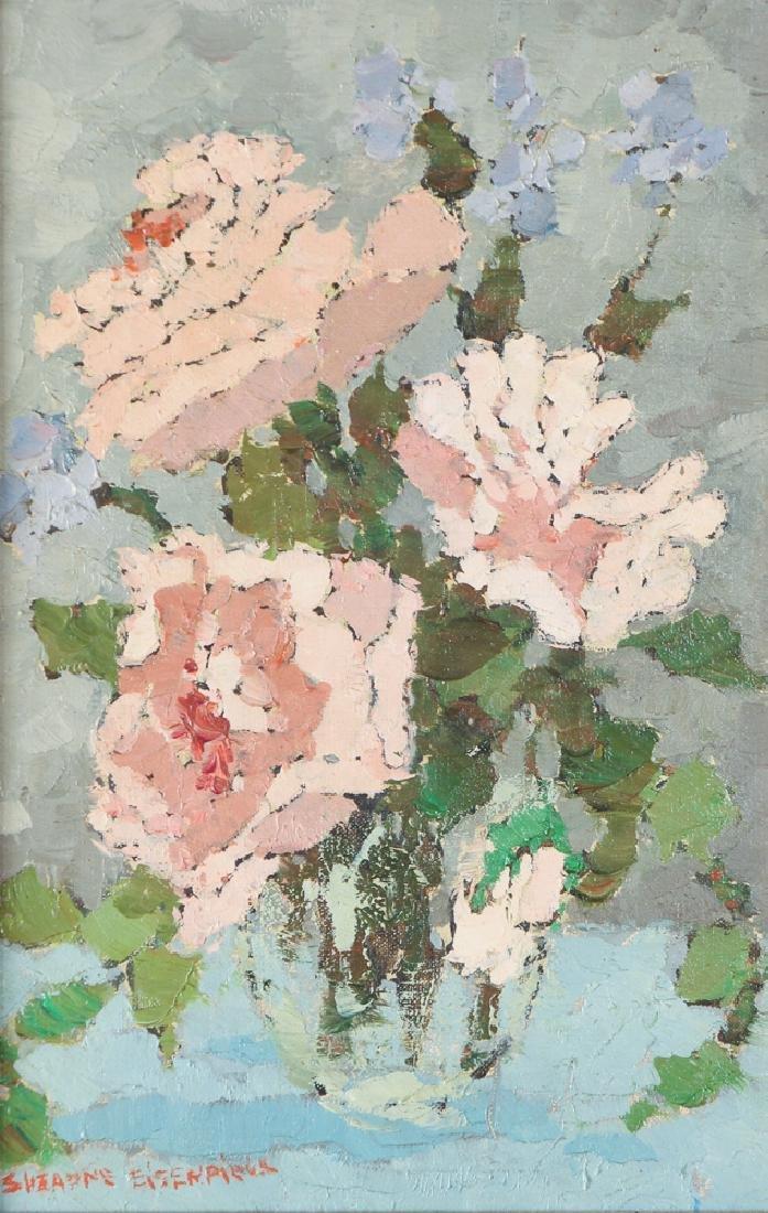 Suzanne Eisendieck painting Roses Dans un Verre