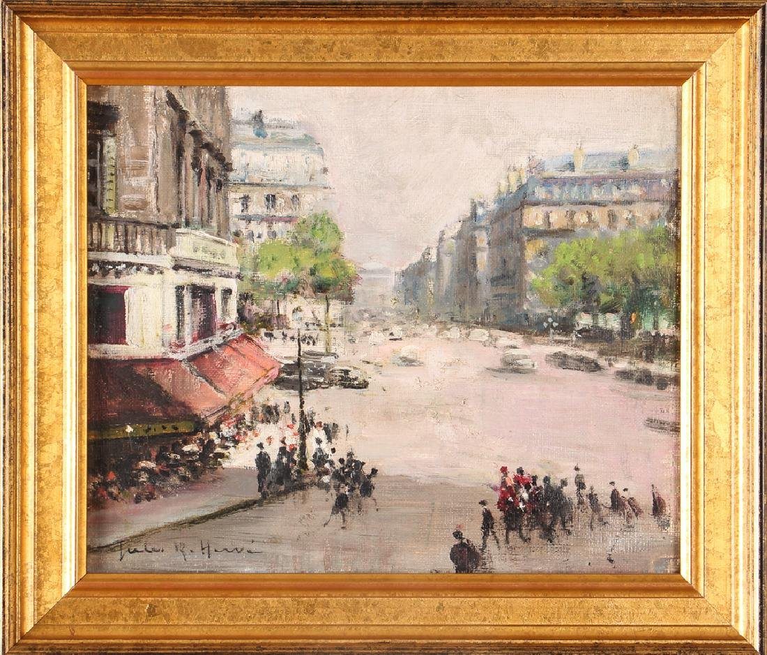 Jules Herve painting Parisian Street Corner Right Bank - 2