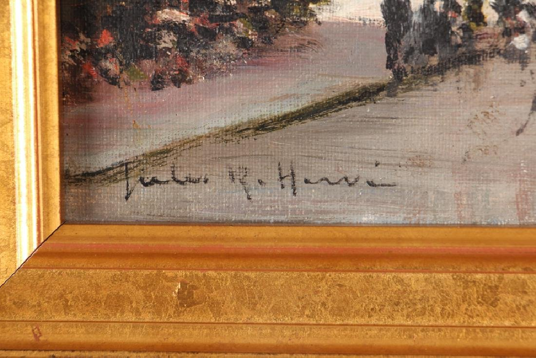 Jules Herve painting Parisian Street Corner Right Bank - 3