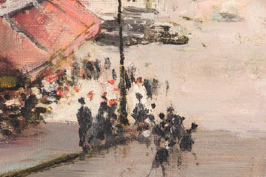 Jules Herve painting Parisian Street Corner Right Bank - 4