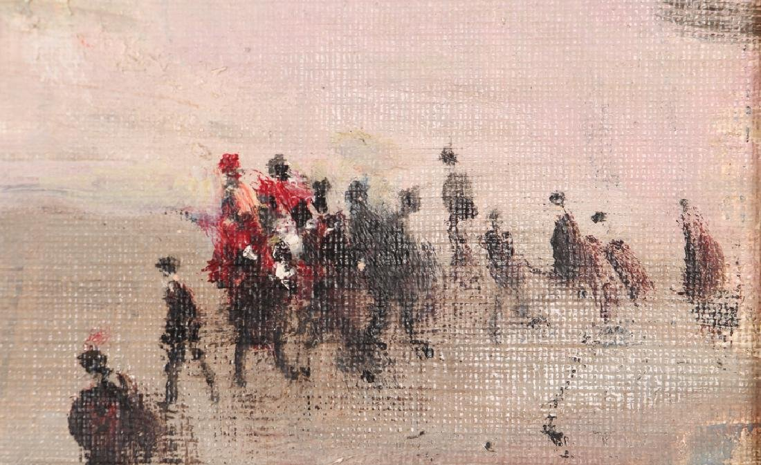 Jules Herve painting Parisian Street Corner Right Bank - 5