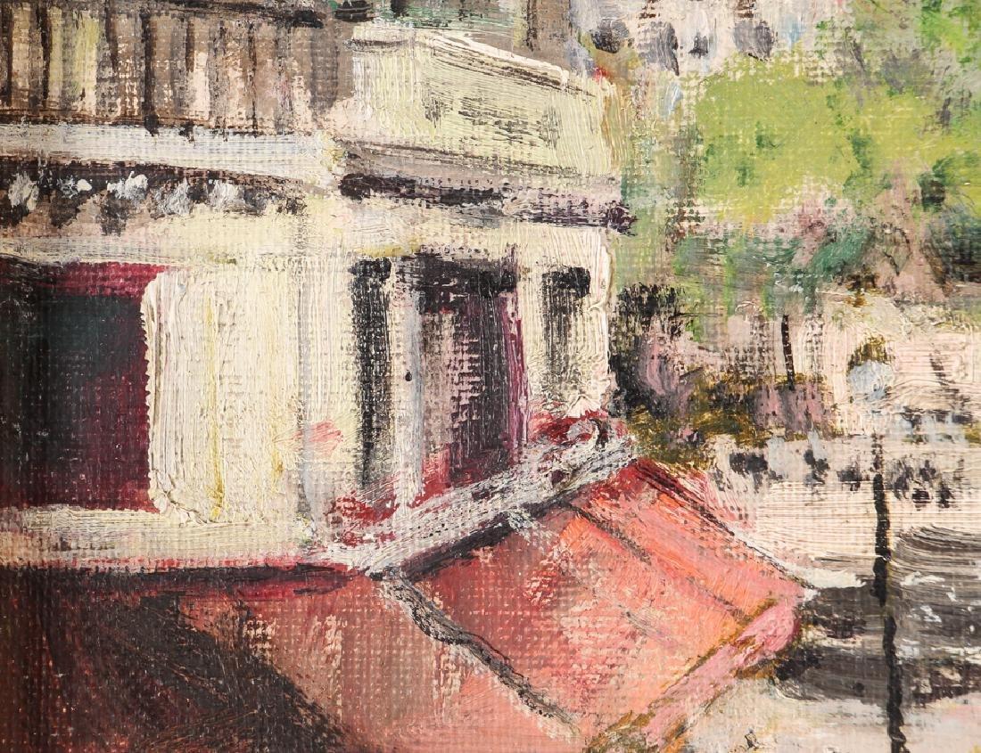 Jules Herve painting Parisian Street Corner Right Bank - 6