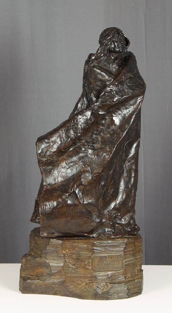 Harry Jackson 1977 bronze Sacagawea working model