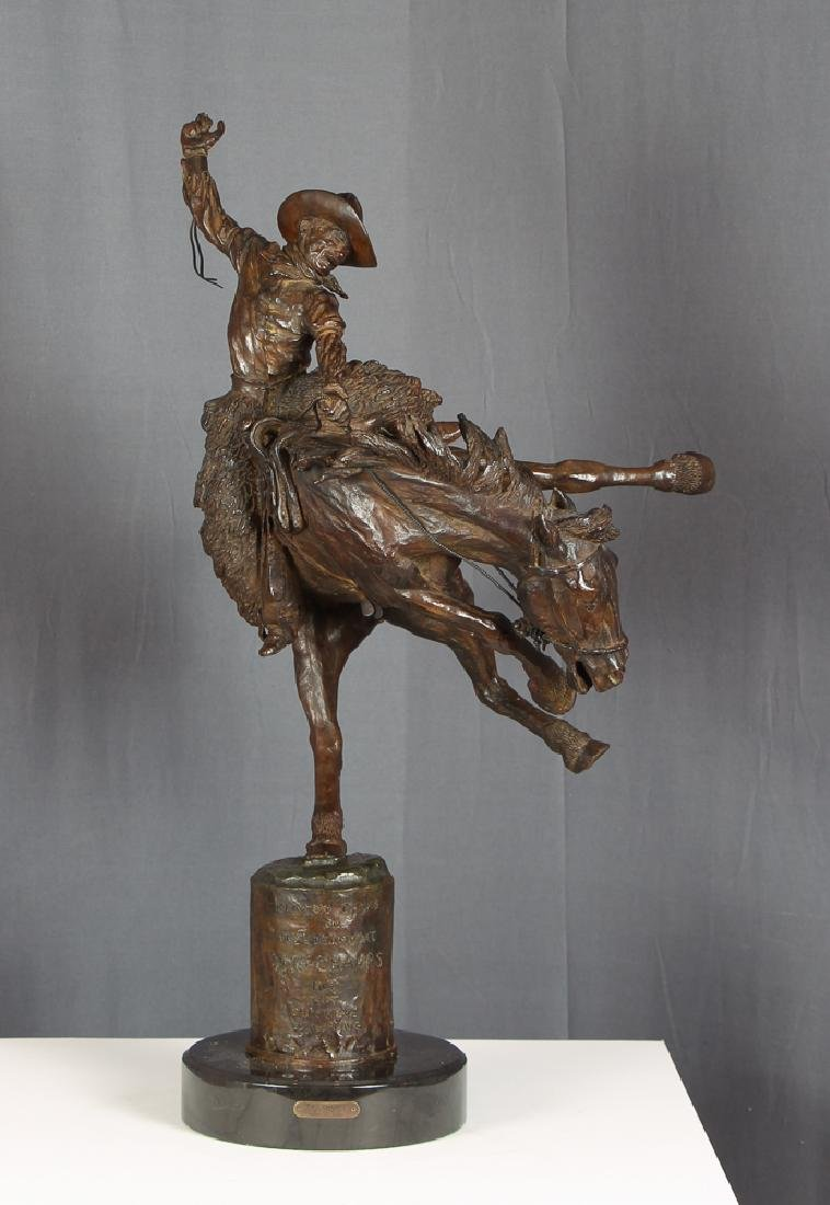 Harry Jackson 1964 rodeo bronze Two Champs