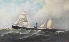 Antonio Jacobsen 1877 early painting The Niagara