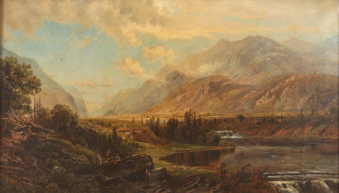 Edmond Darch Lewis Large Adirondack Painting