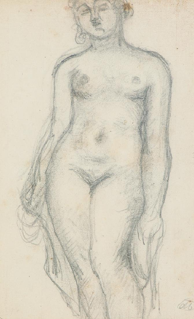 Aristide Maillol Femme Debout, Nue, drawing circa 1920