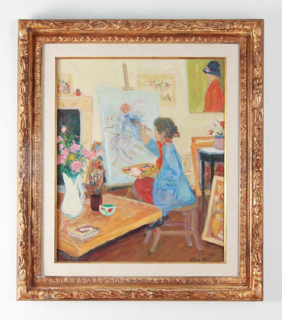 Albert Mohr painting PORTRAIT OF A PAINTER AT WORK - 2
