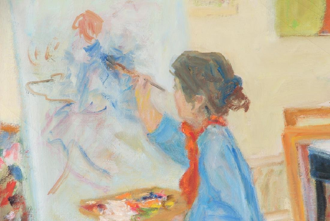 Albert Mohr painting PORTRAIT OF A PAINTER AT WORK - 4