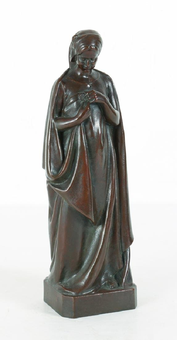 20th Century Bronze Figure By Pineau