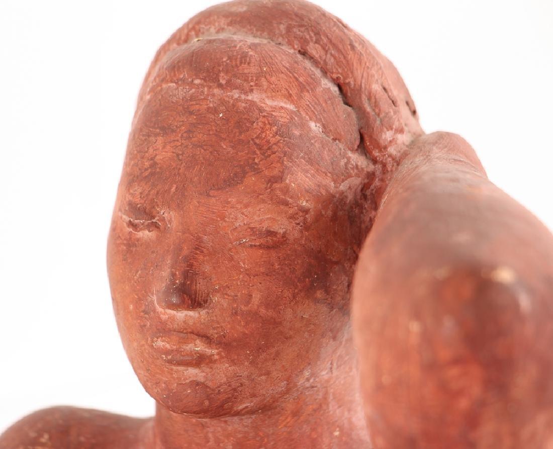 Harry Rosin terracotta sculpture Reclining Nude - 3