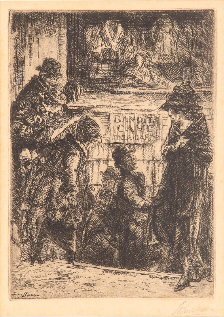 John Sloan 1920 etching Bandit's Cave
