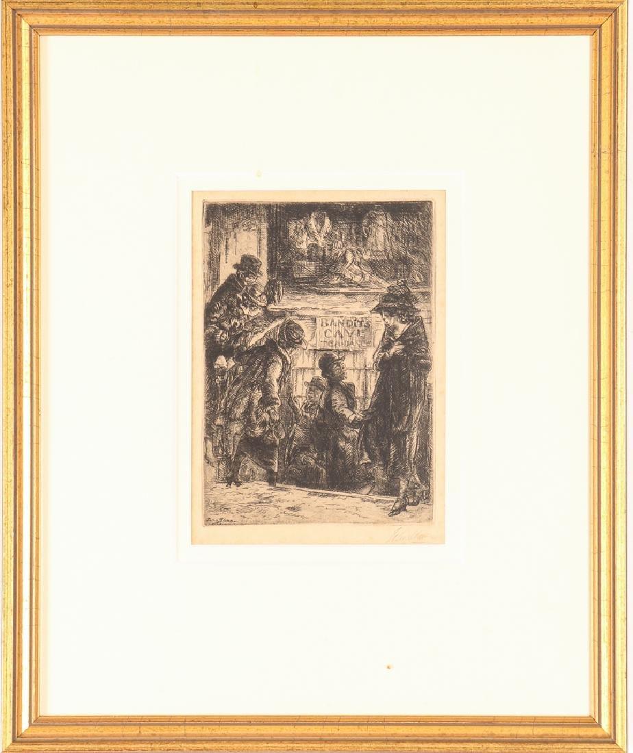 John Sloan 1920 etching Bandit's Cave - 2