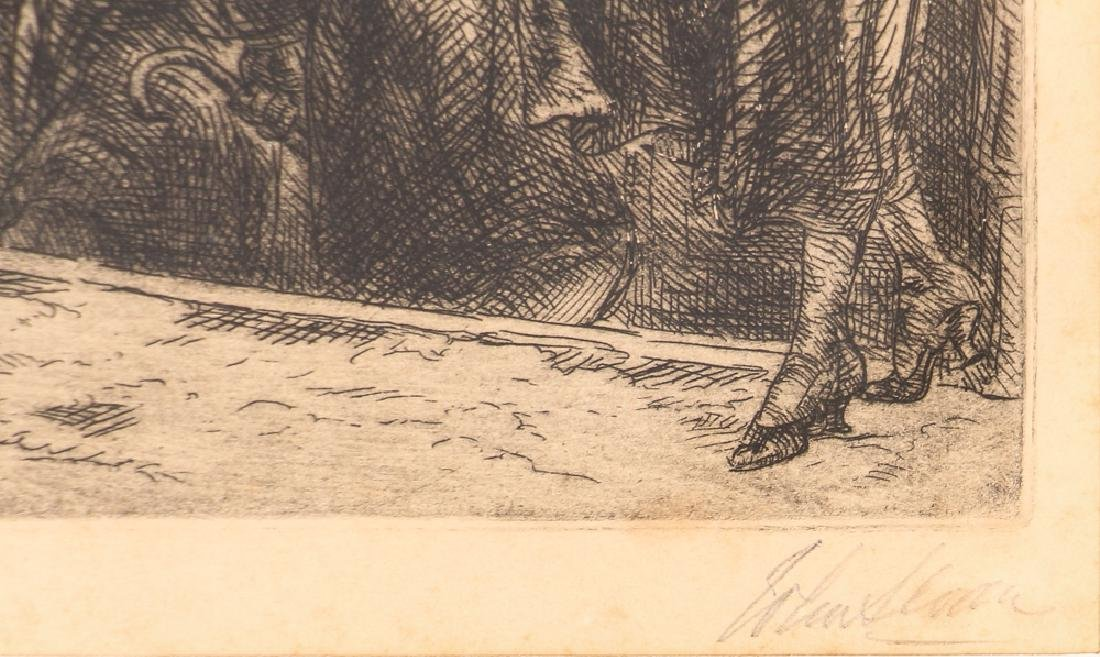 John Sloan 1920 etching Bandit's Cave - 3