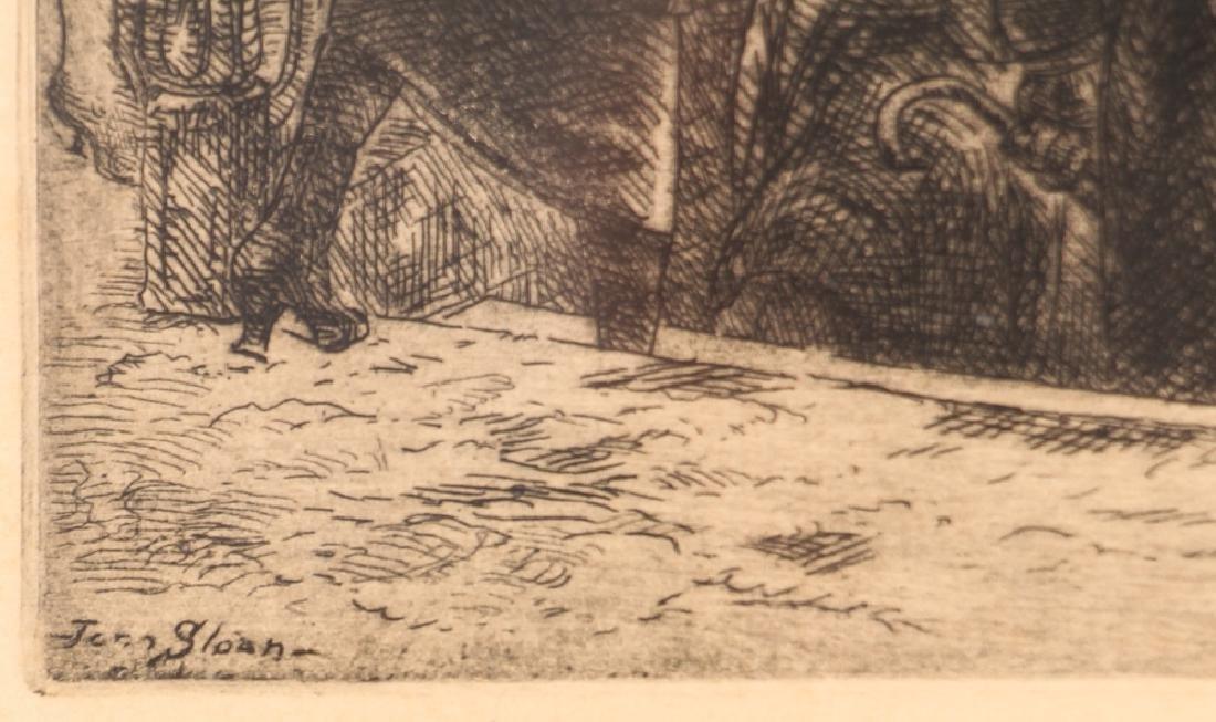 John Sloan 1920 etching Bandit's Cave - 4
