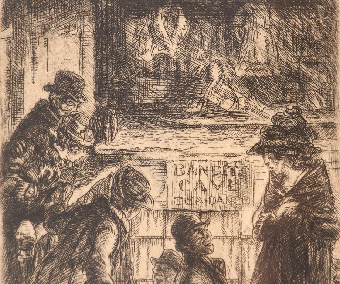 John Sloan 1920 etching Bandit's Cave - 5